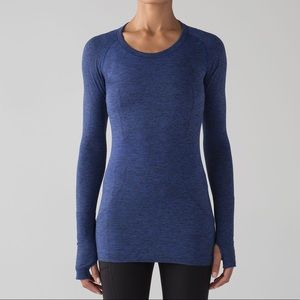 Lululemon Swiftly Tech Long Sleeve Blue/Black